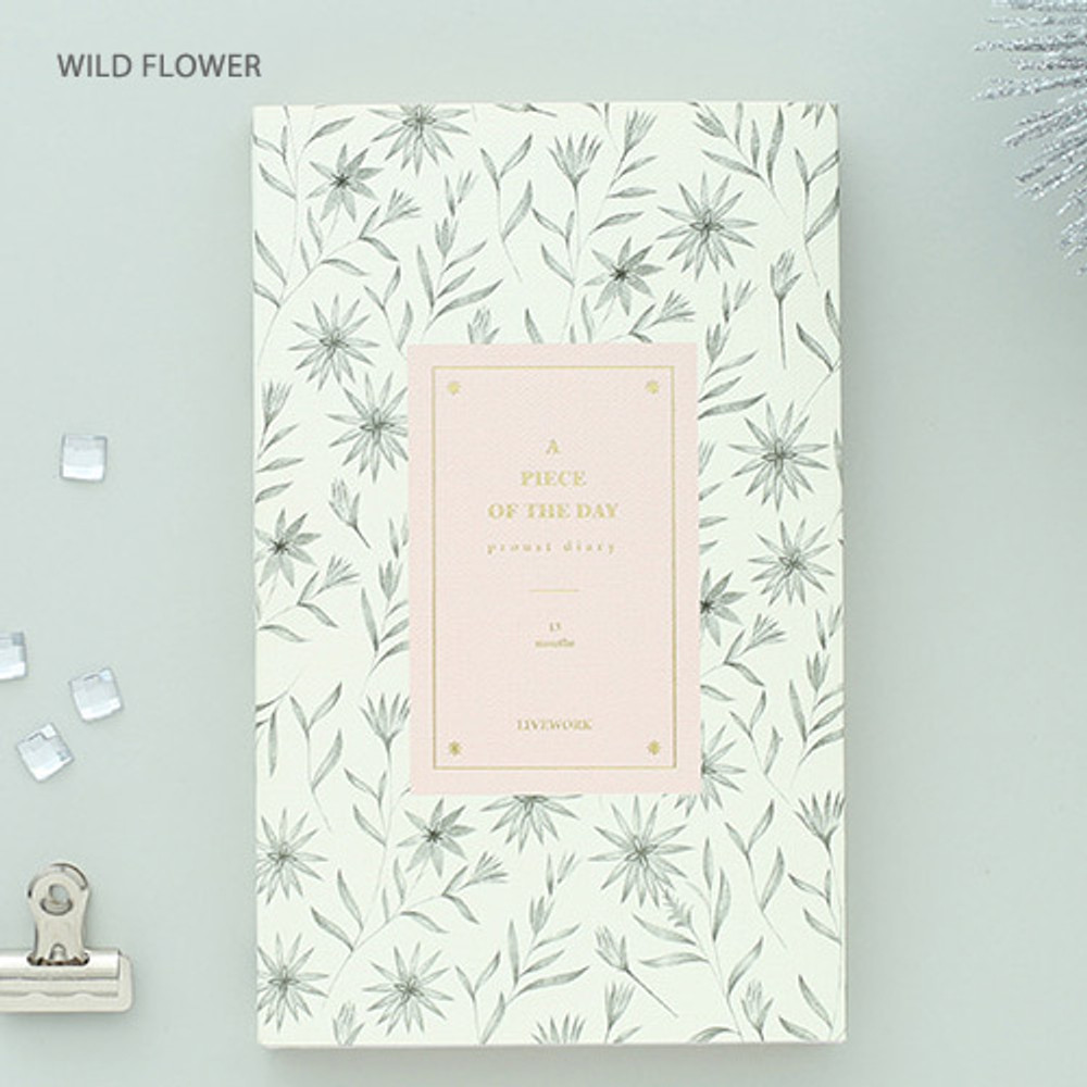 Wild flower - Proust pattern undated weekly diary journal