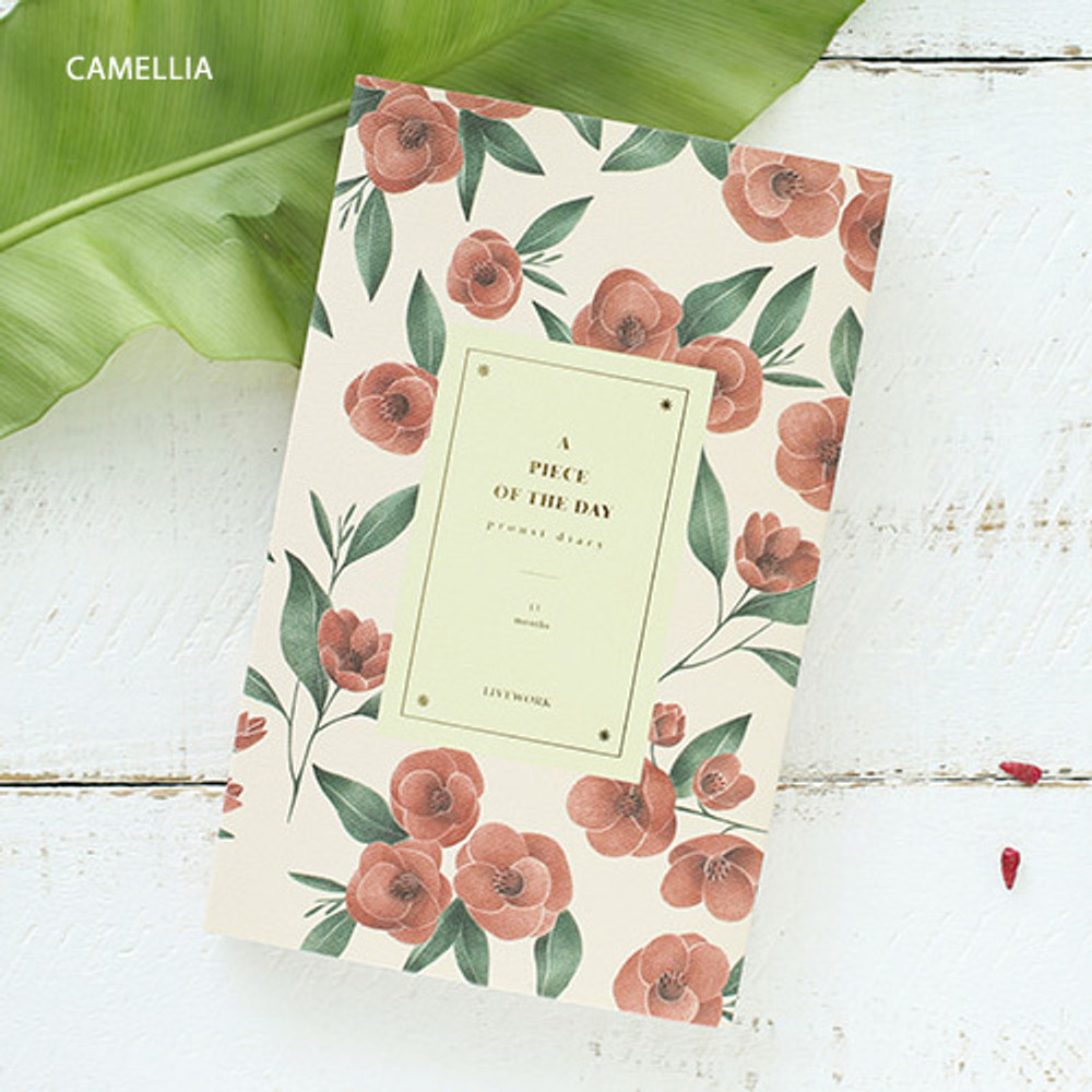 Camellia - Proust pattern undated weekly diary journal