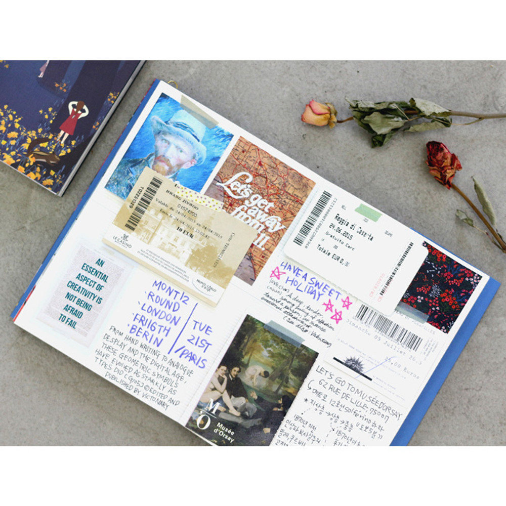 Free note - 2017 Bon bon poster undated diary