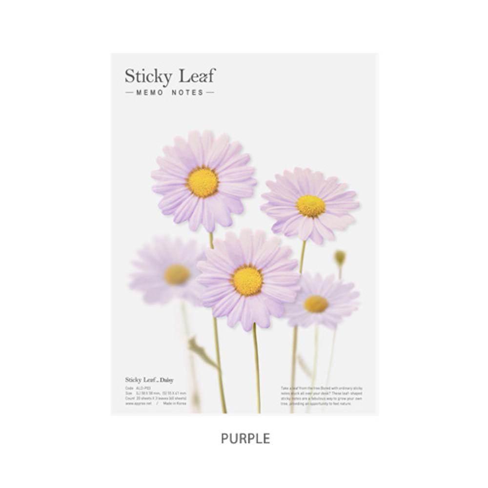Purple - Daisy large sticky memo notes