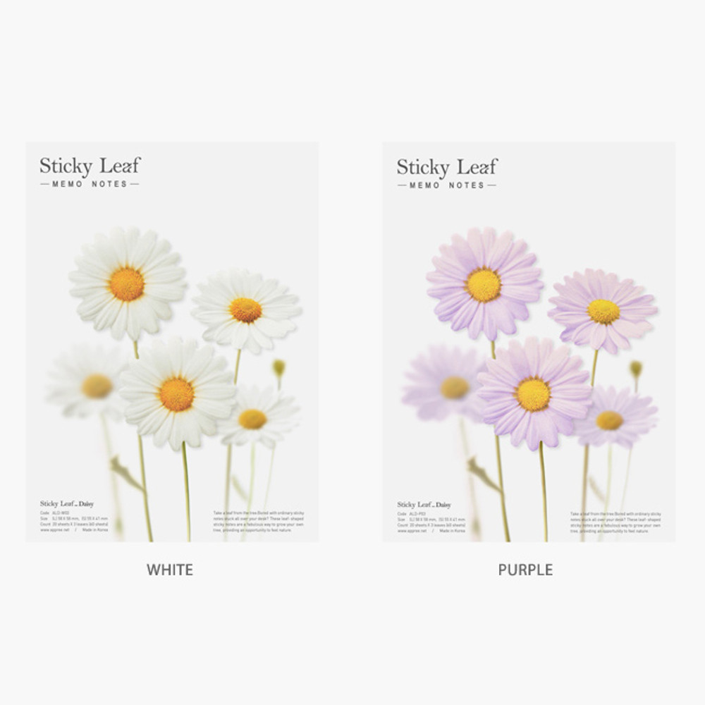 Option - Daisy large sticky memo notes