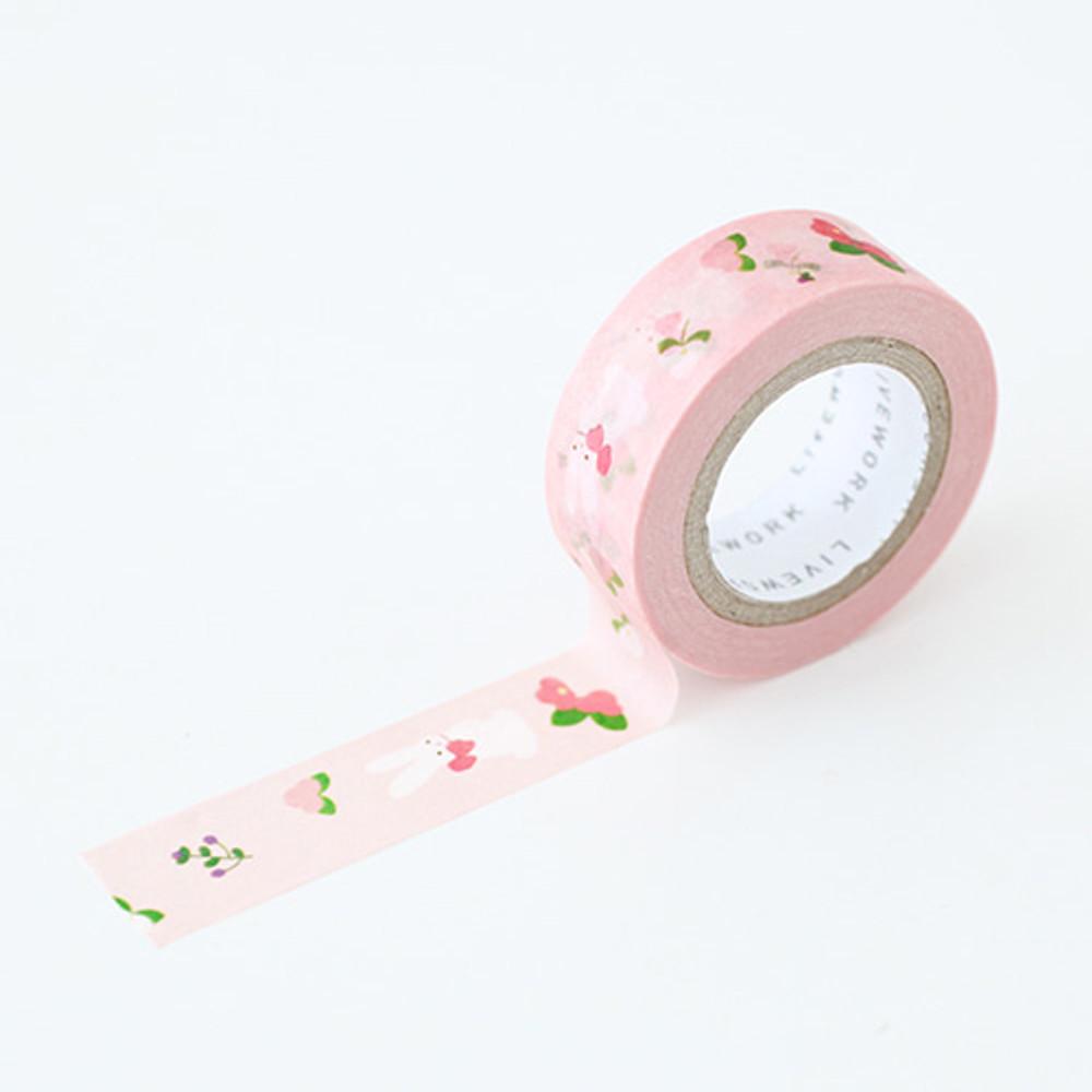 "Piyo spring bunny 0.59""X11yd single deco masking tape"