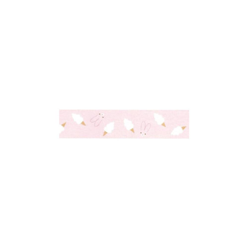 "Piyo cream bunny 0.59""X11yd single deco masking tape"