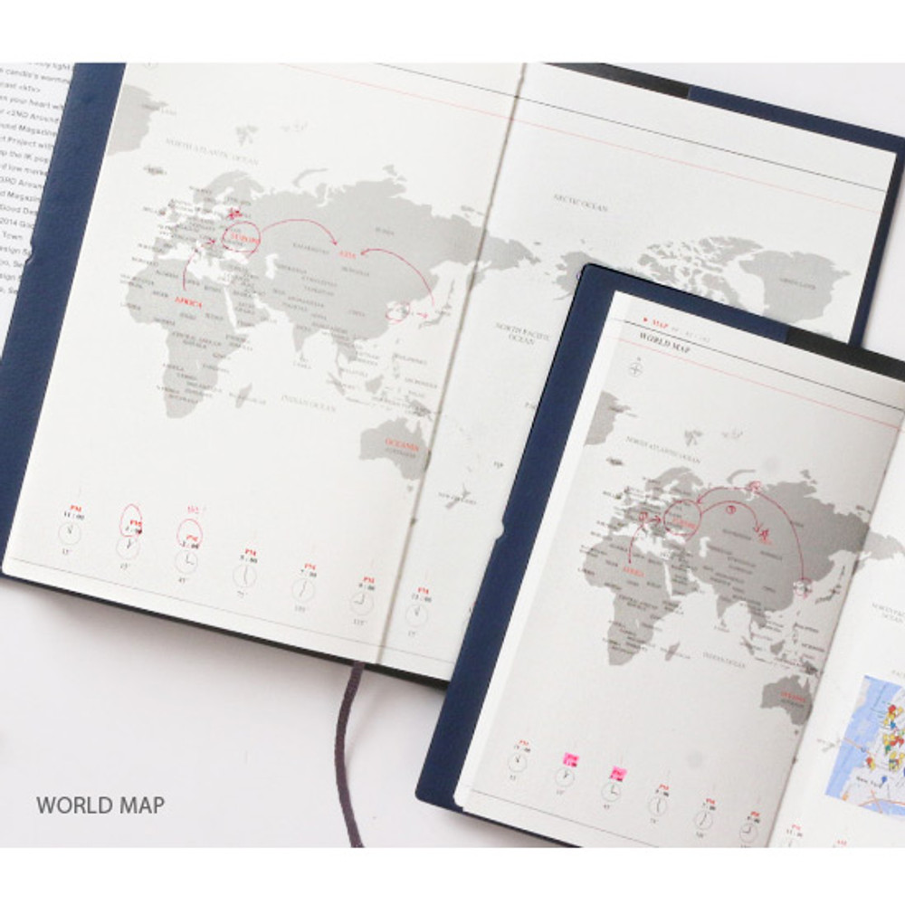 Map - Pictogram simple life medium undated weekly diary
