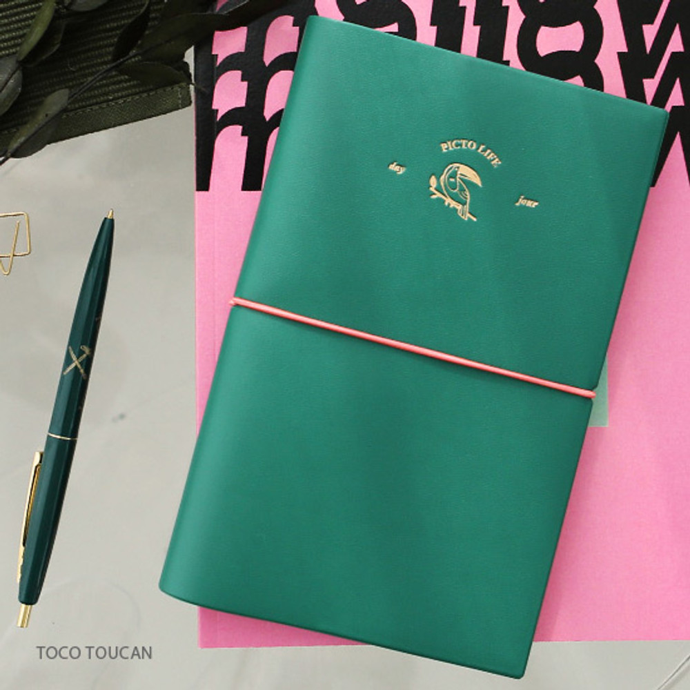 Toco toucan - Pictogram simple life medium undated weekly diary
