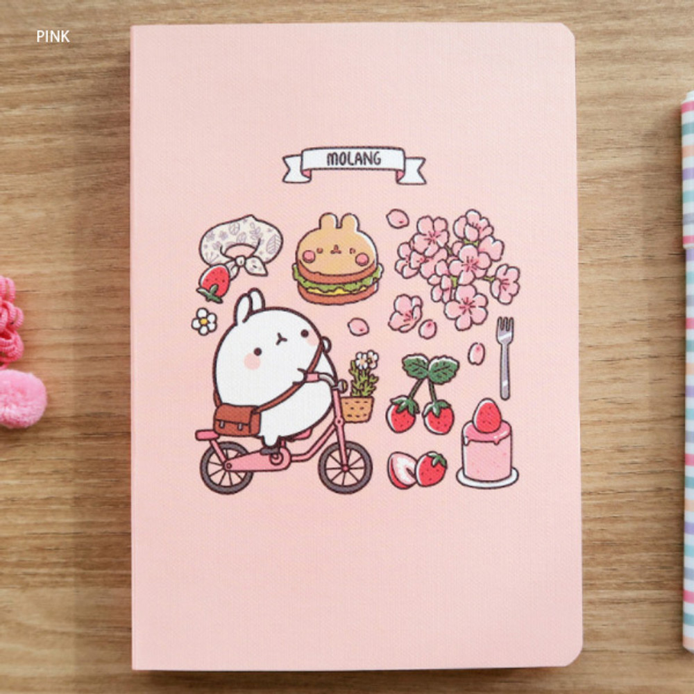 Pink - Molang undated weekly diary agenda