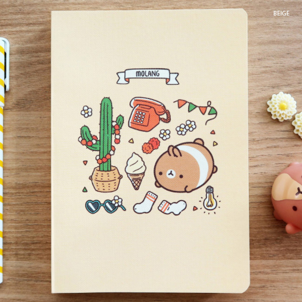 Beige - Molang undated weekly diary agenda