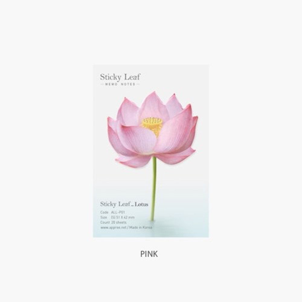 Pink - Lotus small sticky memo notes