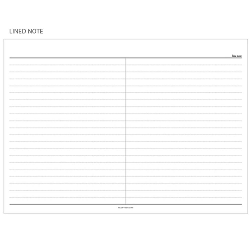 Line note - The Weekly times desk planner notepad