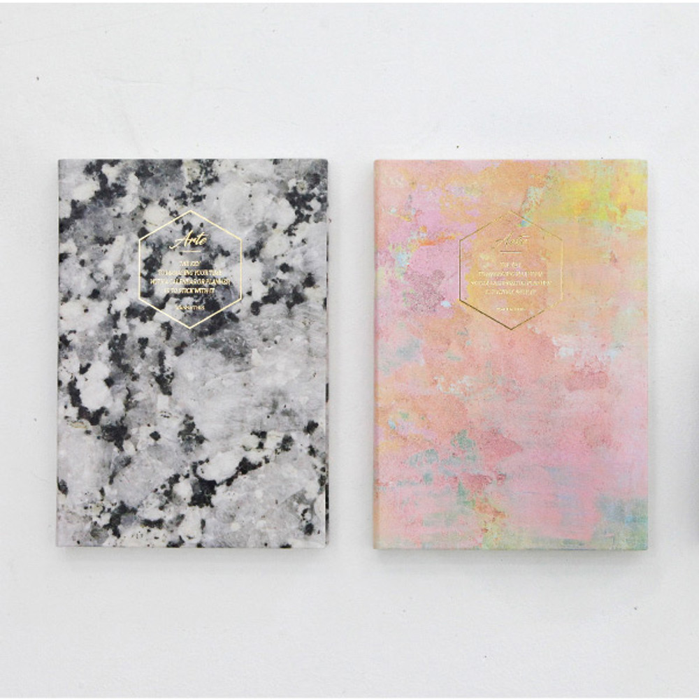 Black stone / Canvas pink - Arte undated daily diary scheduler ver2