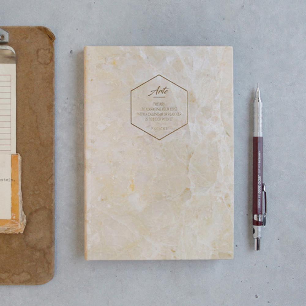 Gold stone - Arte undated daily diary scheduler ver2