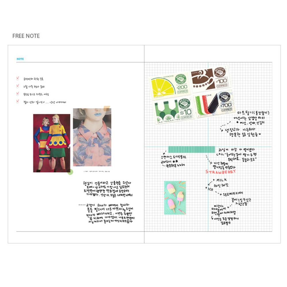 Free note - Arte undated daily diary scheduler ver2