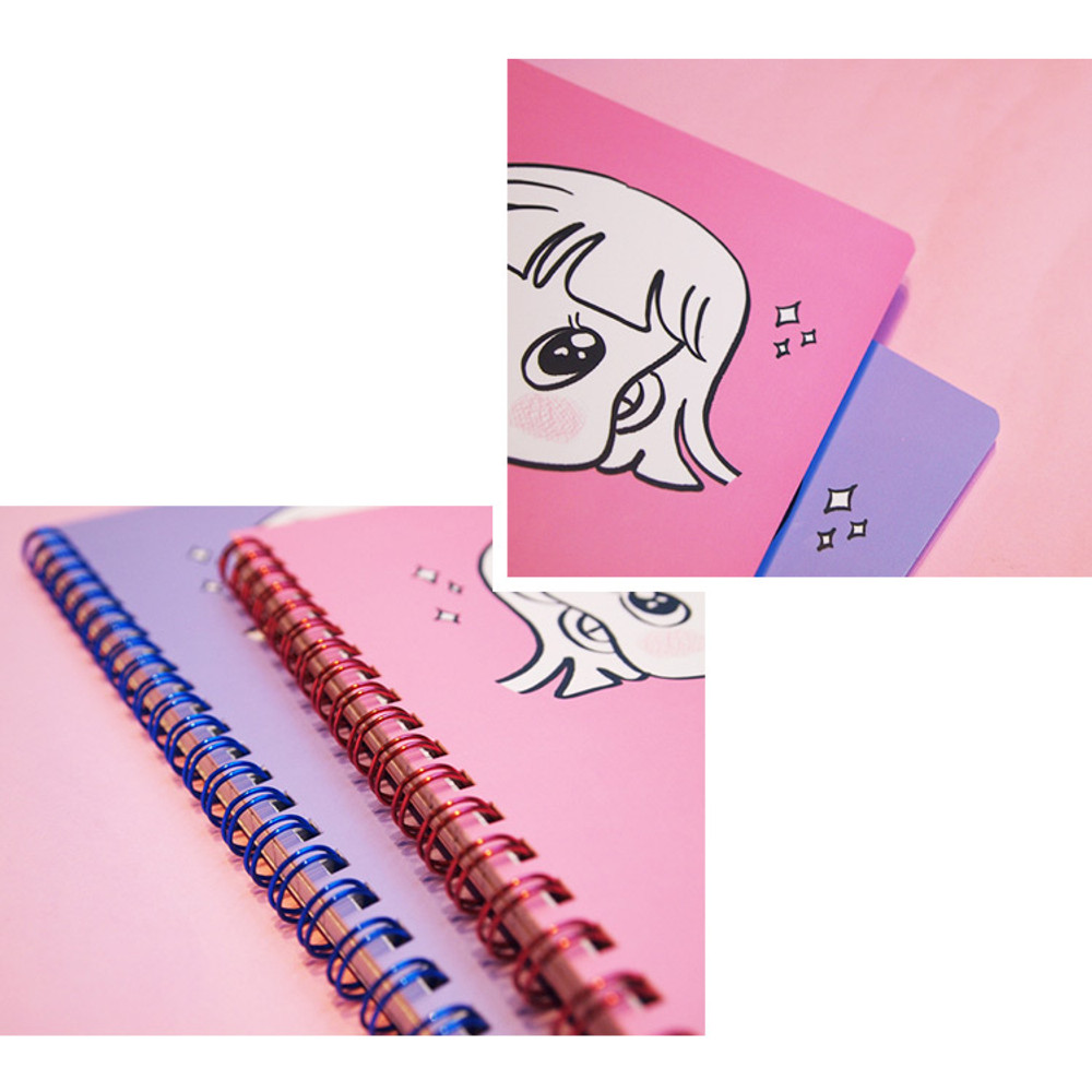 Detail of Nicejin spiral bound lined notebook