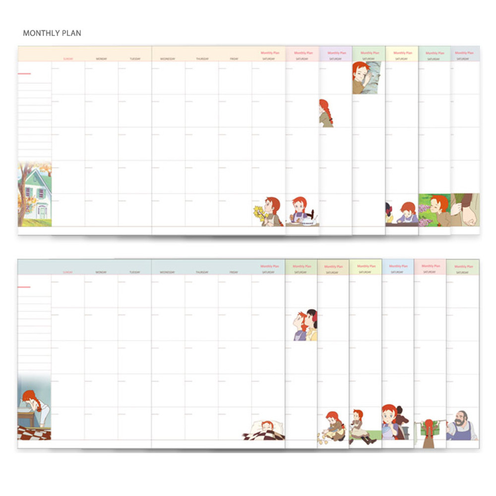 Monthly plan - Anne of green gables undated monthly planner