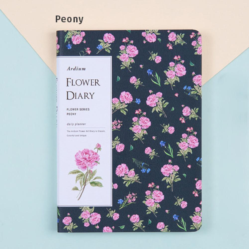 peony - Flower illustration undated weekly diary