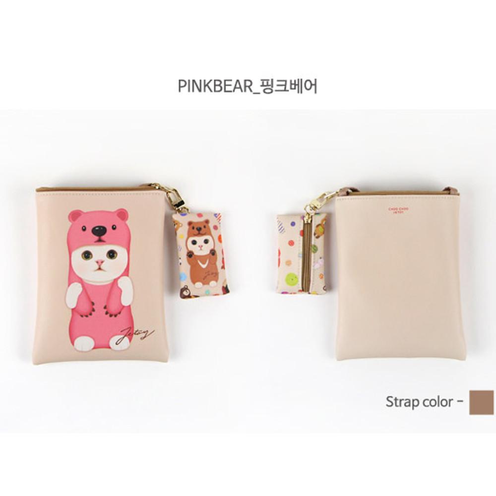 Pinkbear - Choo Choo cat small crossbody bag