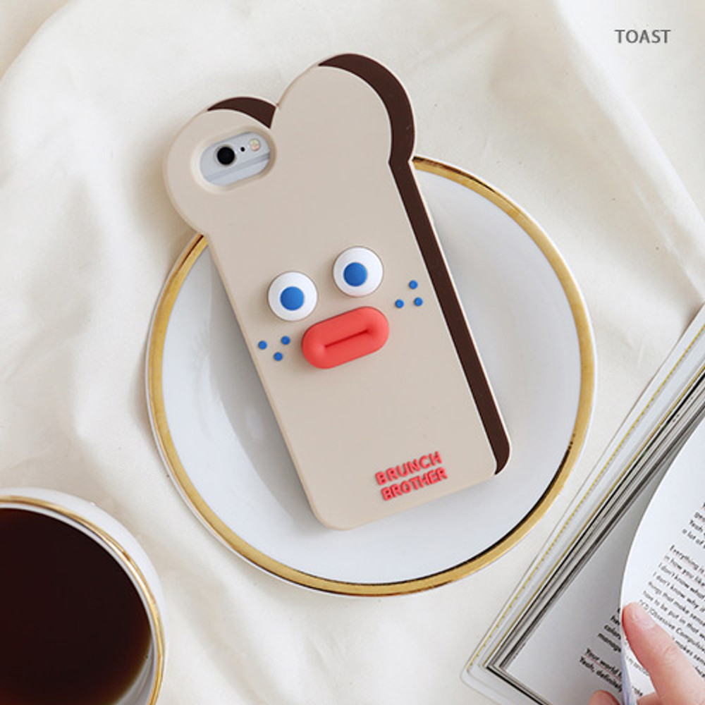 Toast - Ivory bunny - Brunch brother case for iPhone 8 7 6S 6