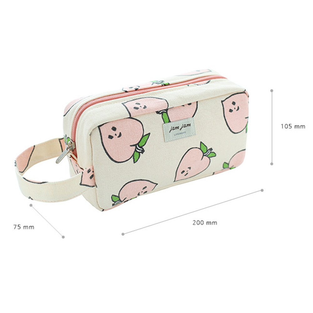 Size of Jam Jam canvas zipper pouch with handle