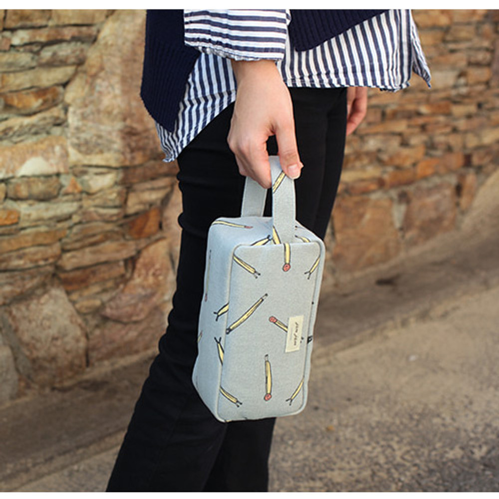 Matchstick - Jam Jam canvas zipper pouch with handle