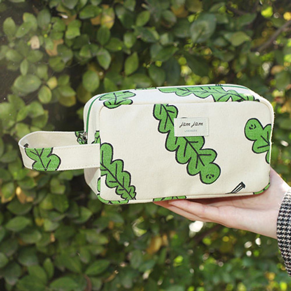Foliage - Jam Jam canvas zipper pouch with handle