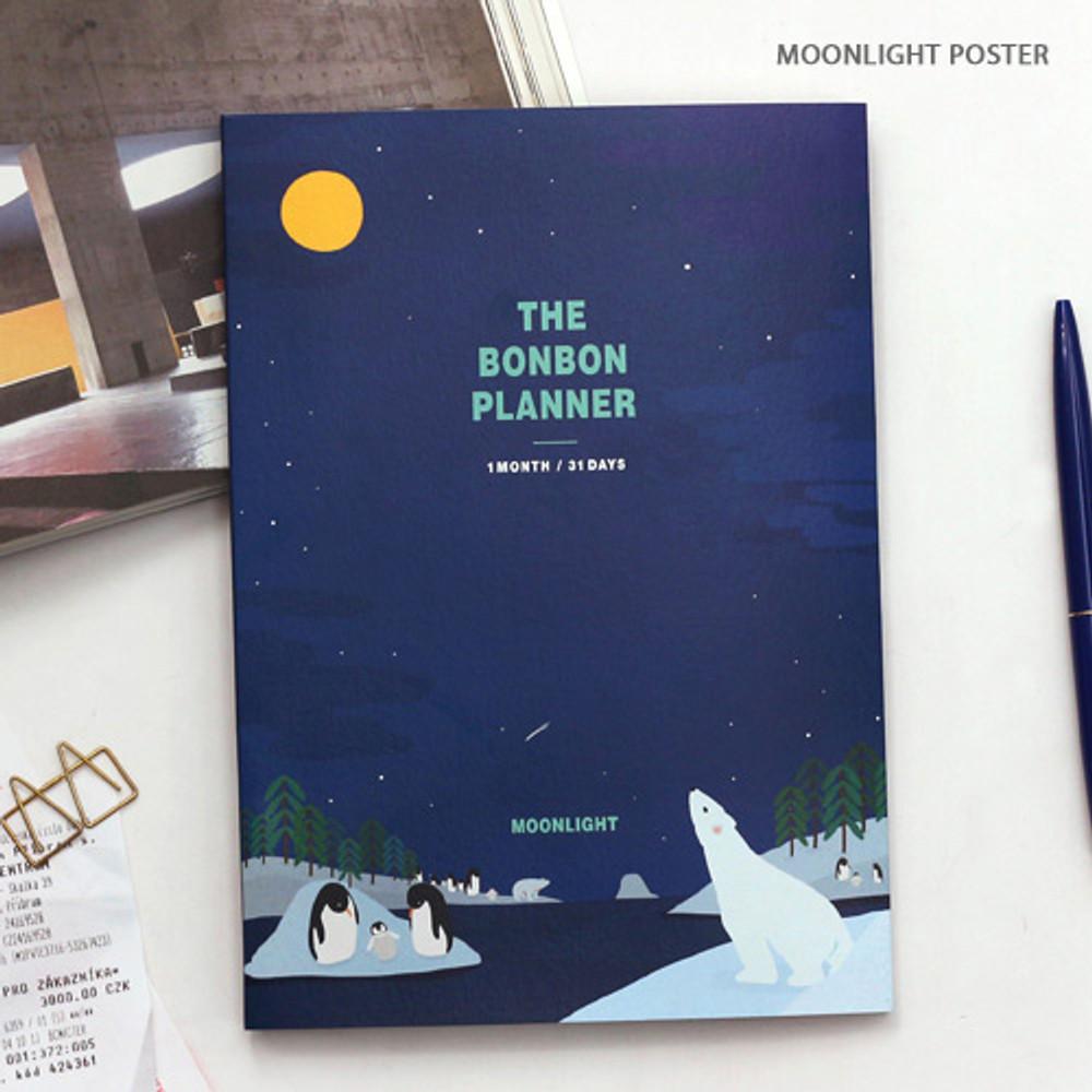 moonlight poster - Bon Bon 1 month undated planner