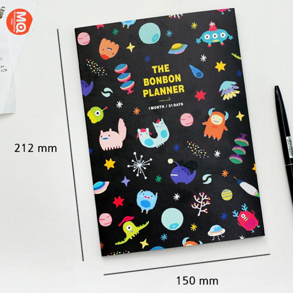 Size - Bon Bon 1 month undated planner scheduler