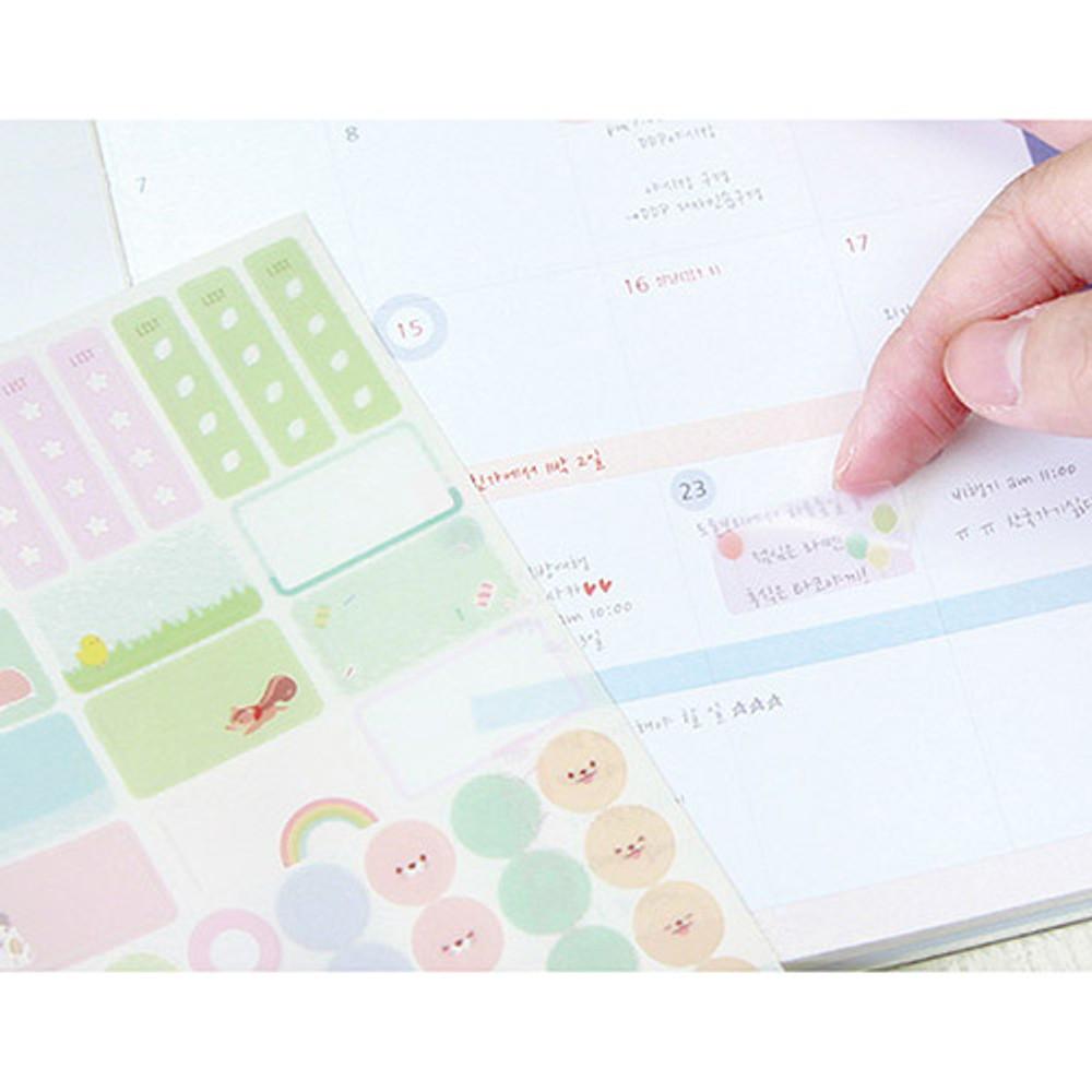 Colorful deco transparent clear sticker set