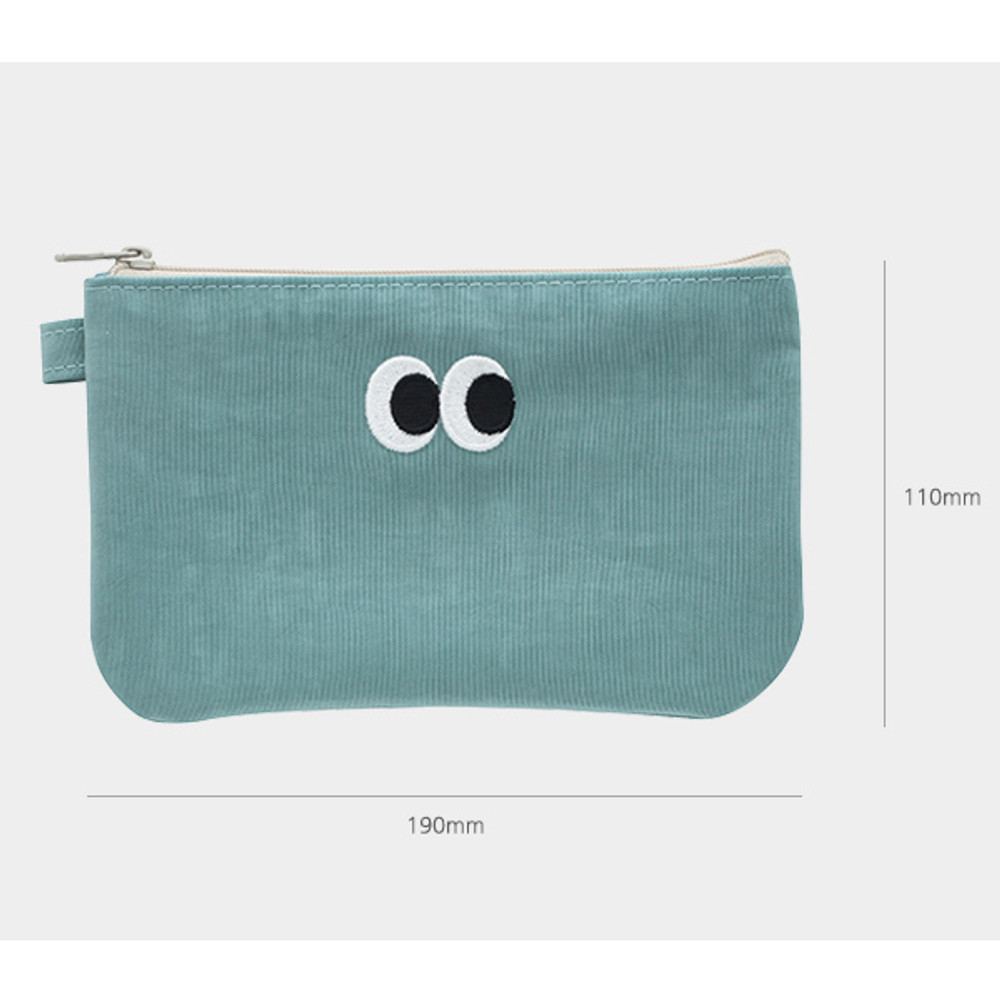 Size - Som Som stitch pocket zipper pouch