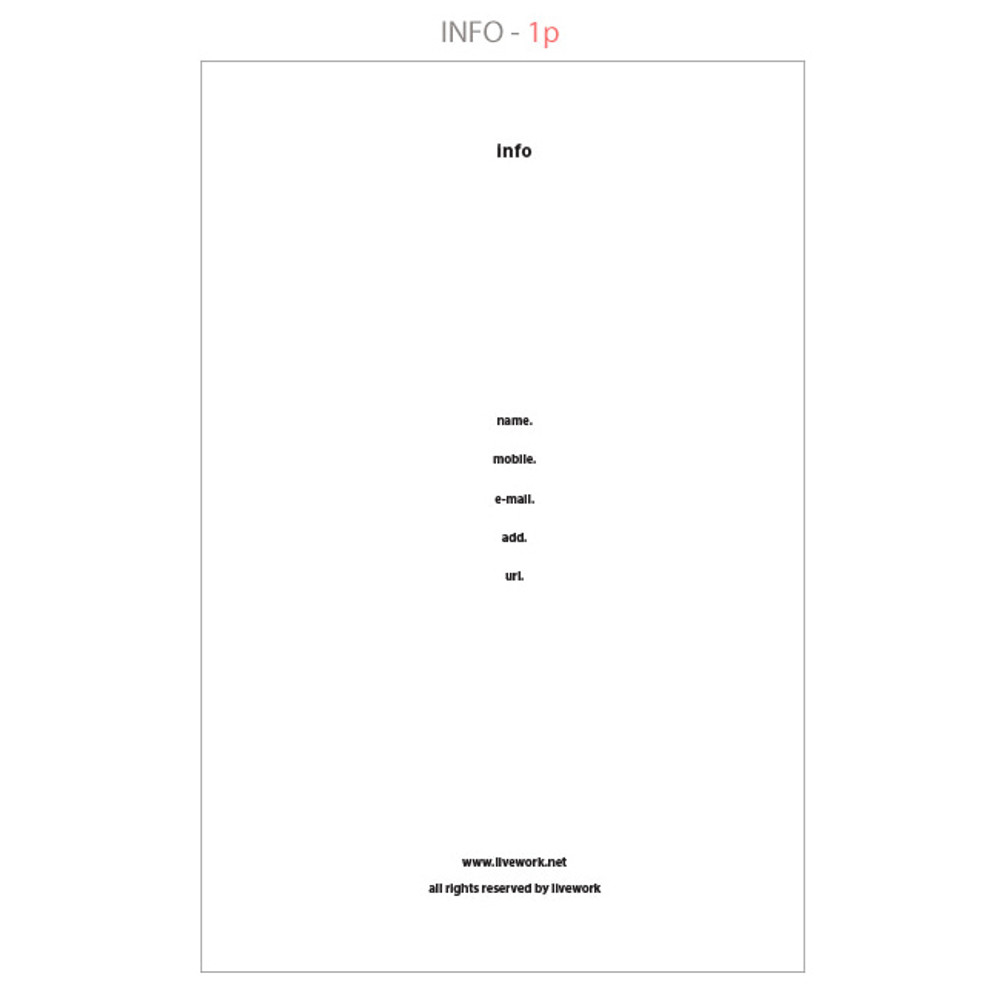 Info - Life and pieces simple idea plain notebook