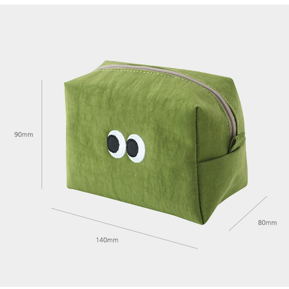 Size - Som Som stitch cosmetic makeup zipper pouch