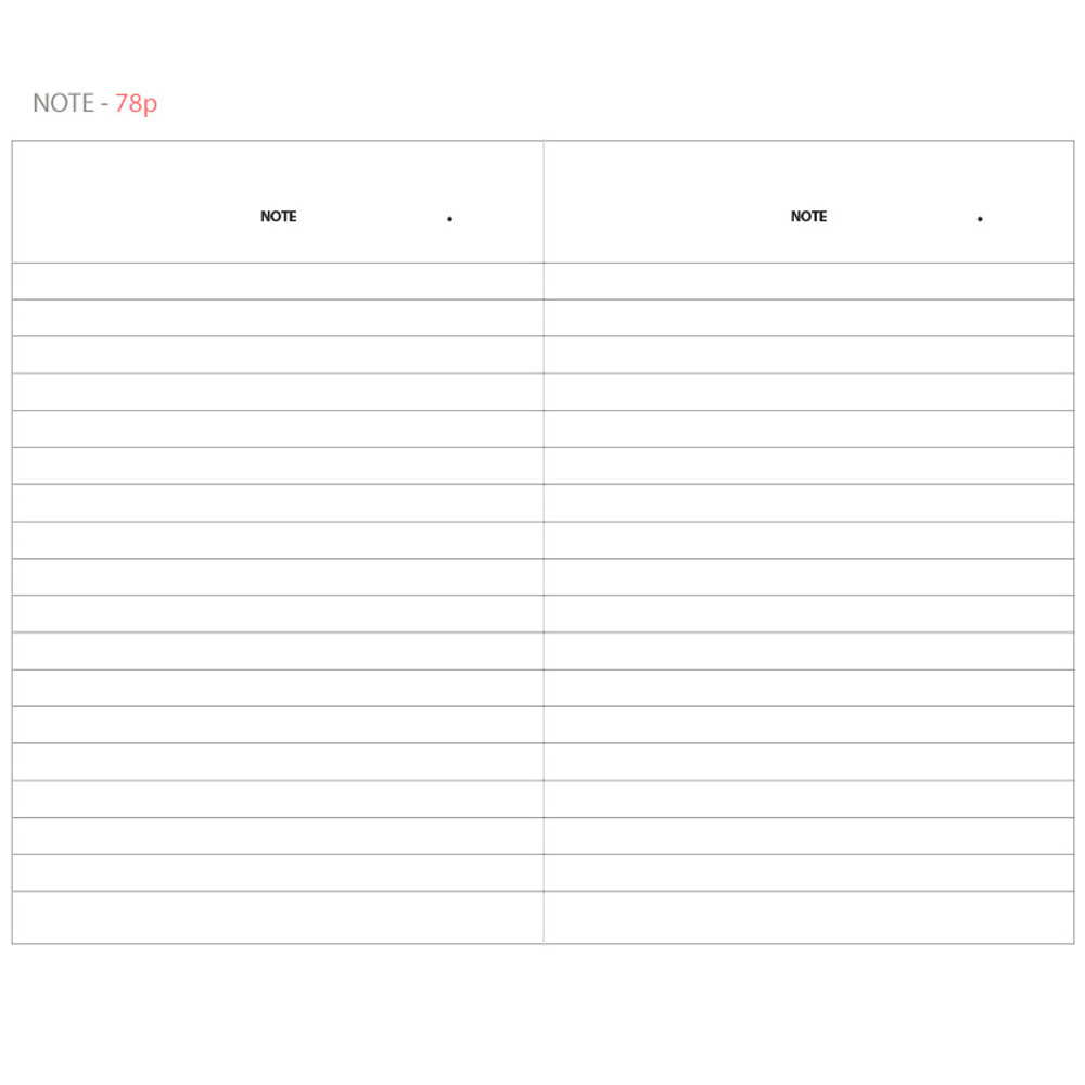 Note - Life and pieces simple lined notebook