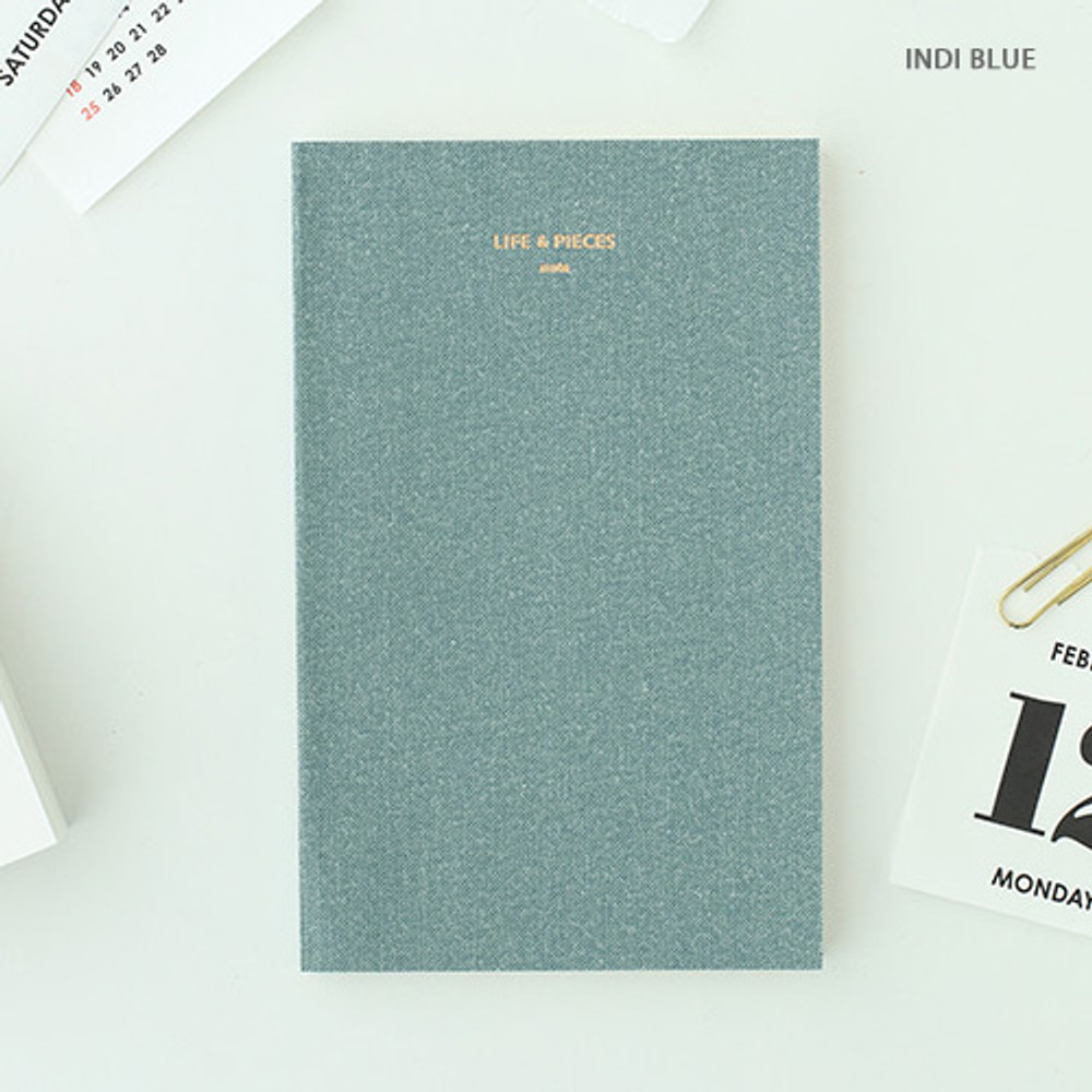 Indi blue - Life and pieces simple lined notebook