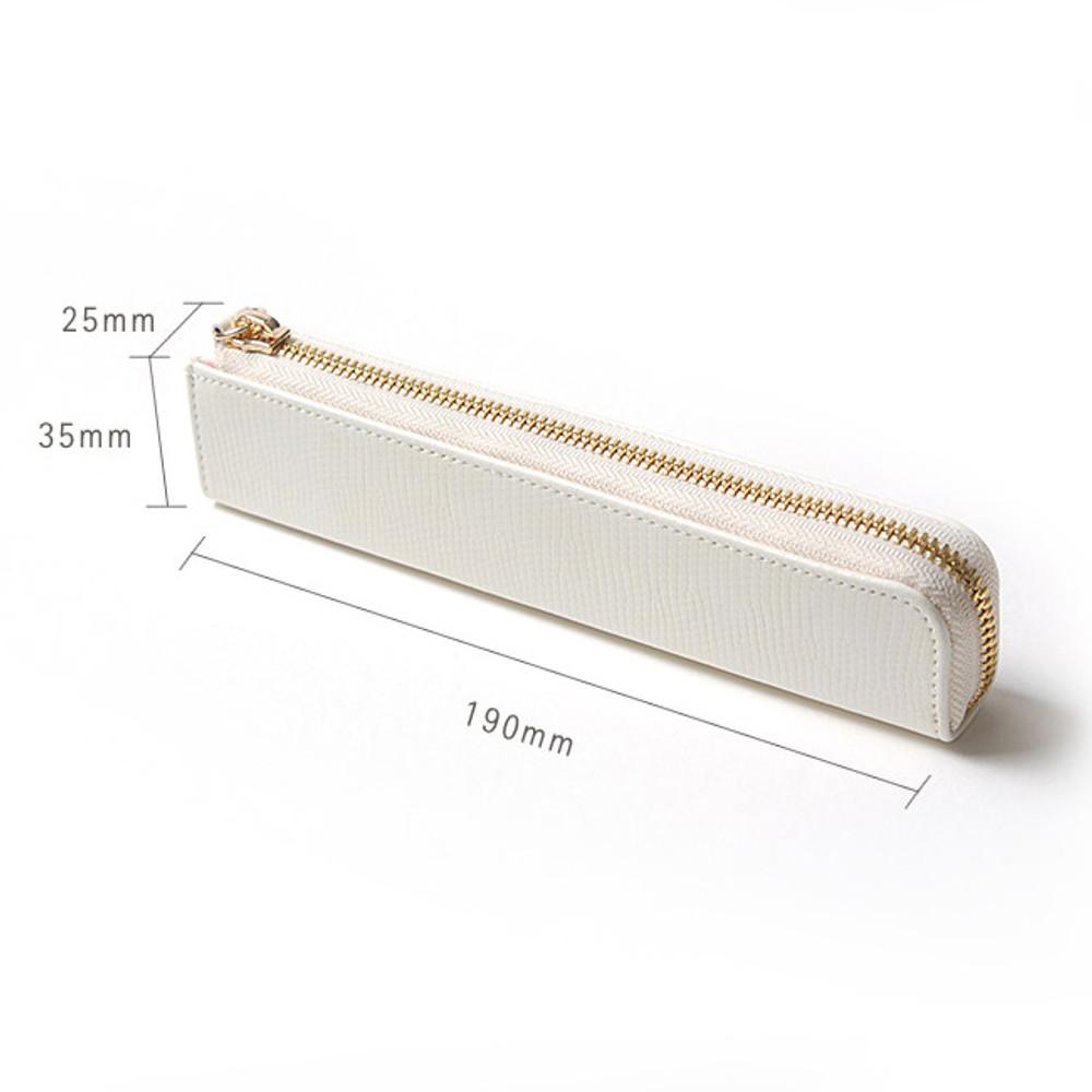 Size - Simple compact zipper pencil case