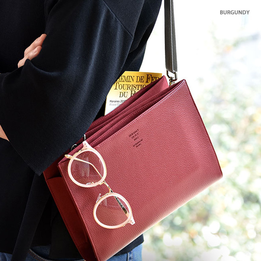Burgundy - Holiday select cross shoulder bag