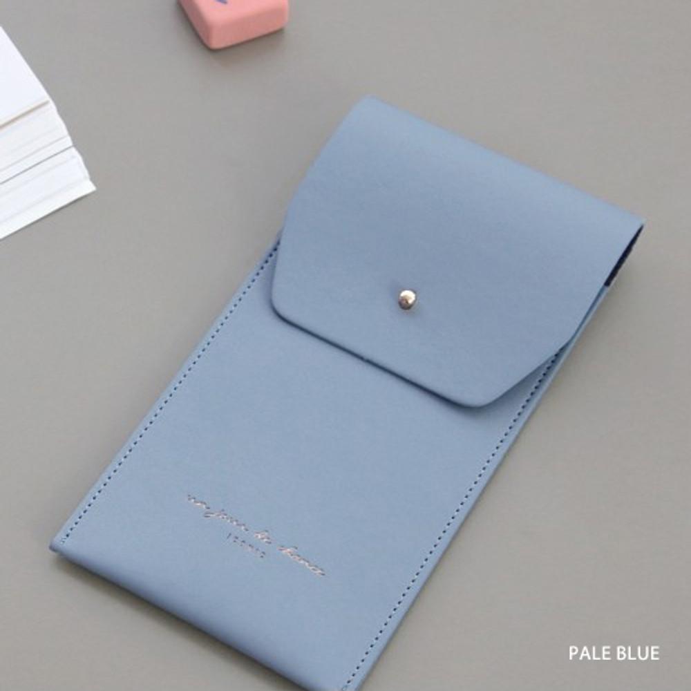 Pale blue -  Un jour de chance pocket pencil case