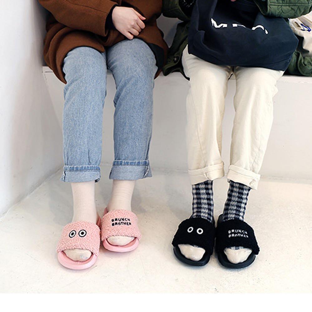Brunch brother pom pom slide sandal