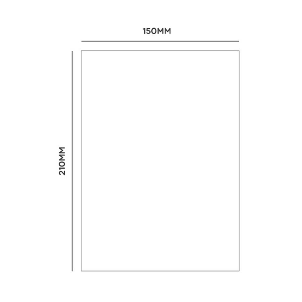 Size - Ggo deung o spiral bound lined notebook