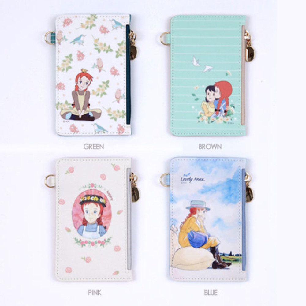 Option (Front) - Anne of green gables card case with strap
