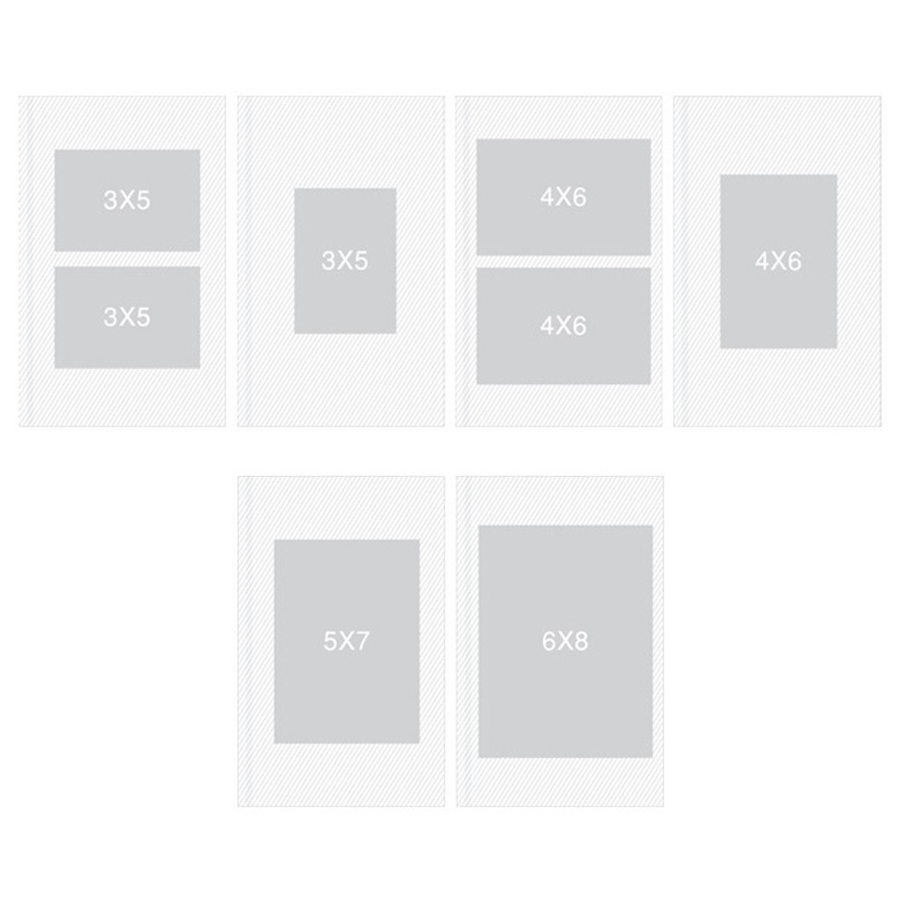 Size - Pieces of moment self adhesive photo album ver2