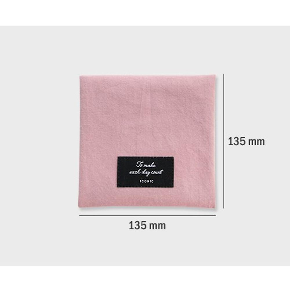 Size - Plain secret daily cotton pouch