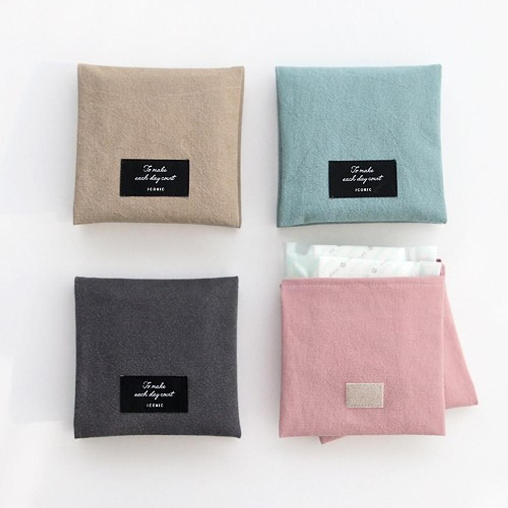Plain secret daily cotton pouch