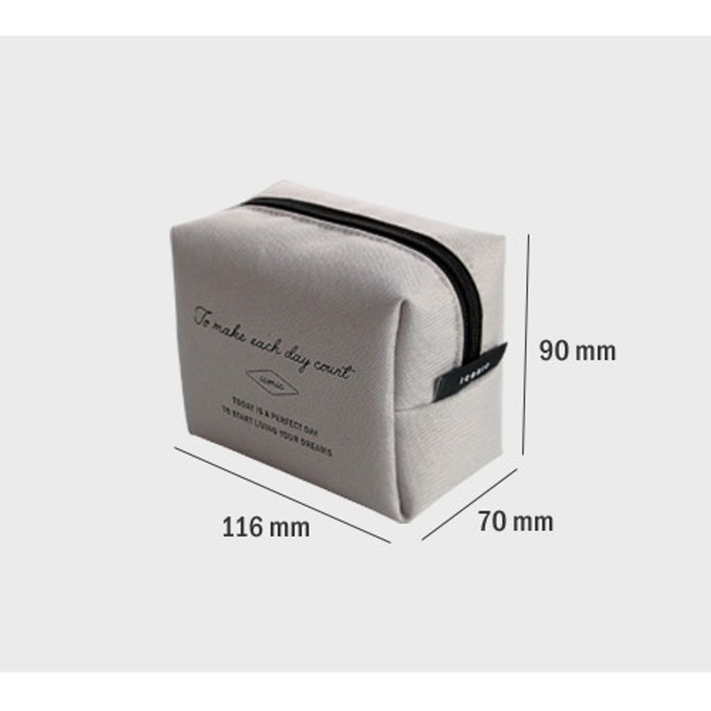 Size - ICONIC Plain cosmetic makeup small zipper pouch