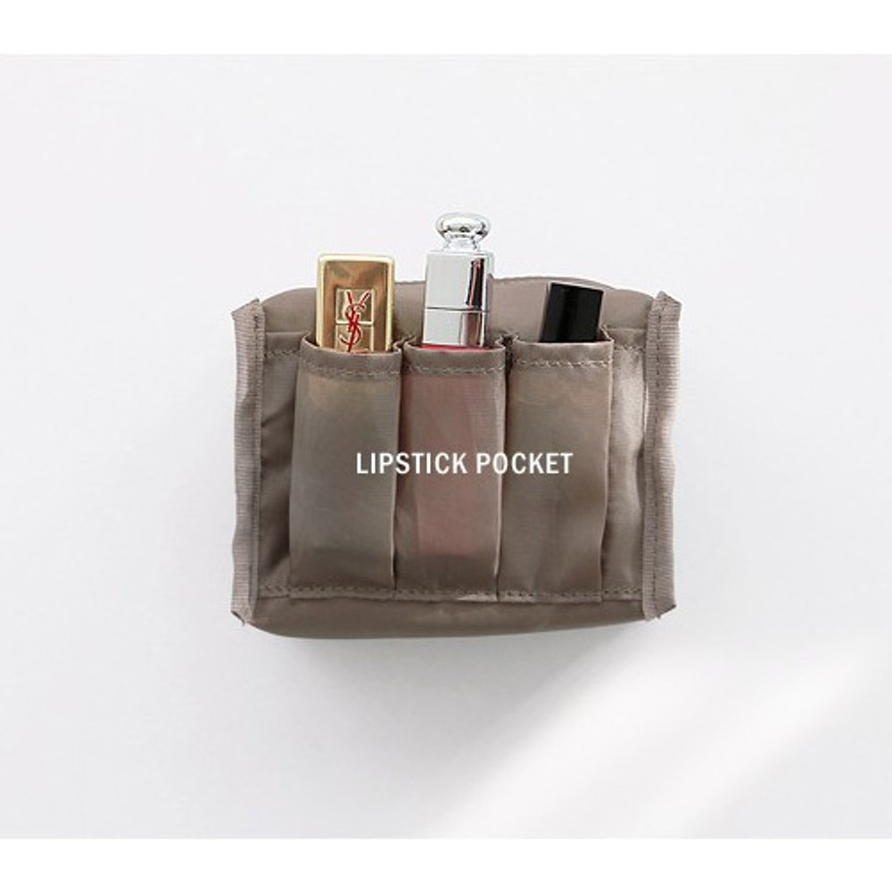 Lipstick pocket - ICONIC Plain cosmetic makeup small zipper pouch