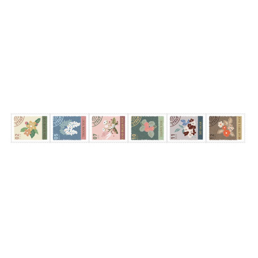 Dailylike Flower deco single stamp masking tape