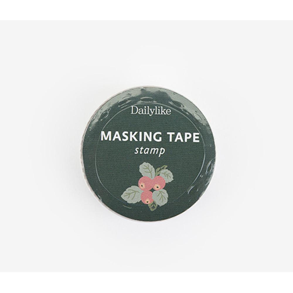 Package - Dailylike Flower deco single stamp masking tape