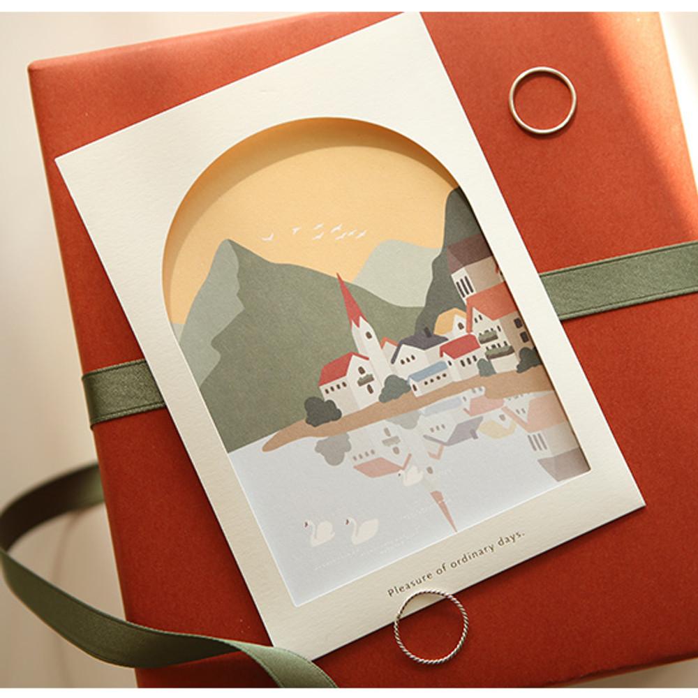 Dailylike Window illustration message card with envelope