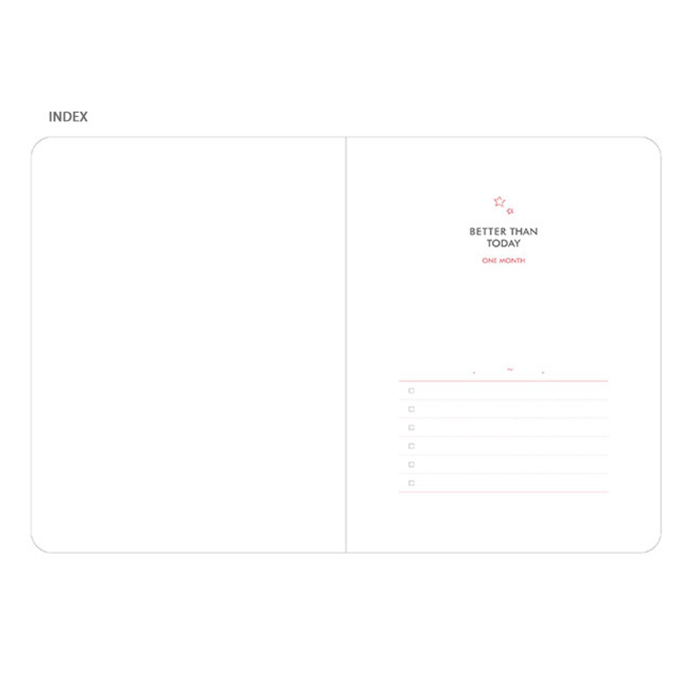 Index - Pleple Better than today 1 month undated daily planner agenda