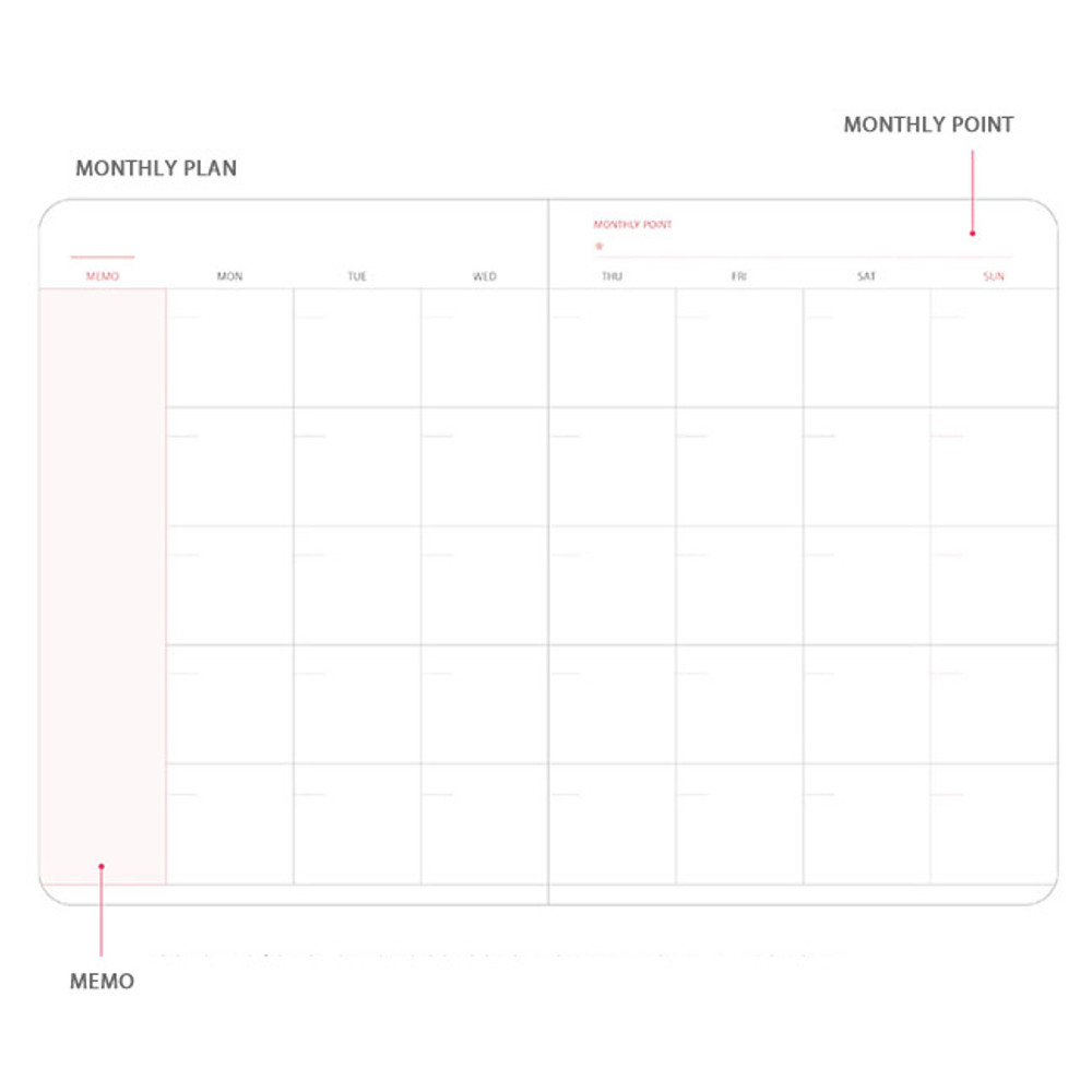 Monthly plan - Pleple Better than today 1 month undated daily planner agenda