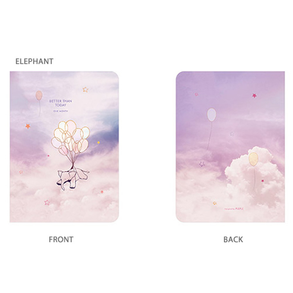 Elephant - Pleple Better than today 1 month undated daily planner agenda