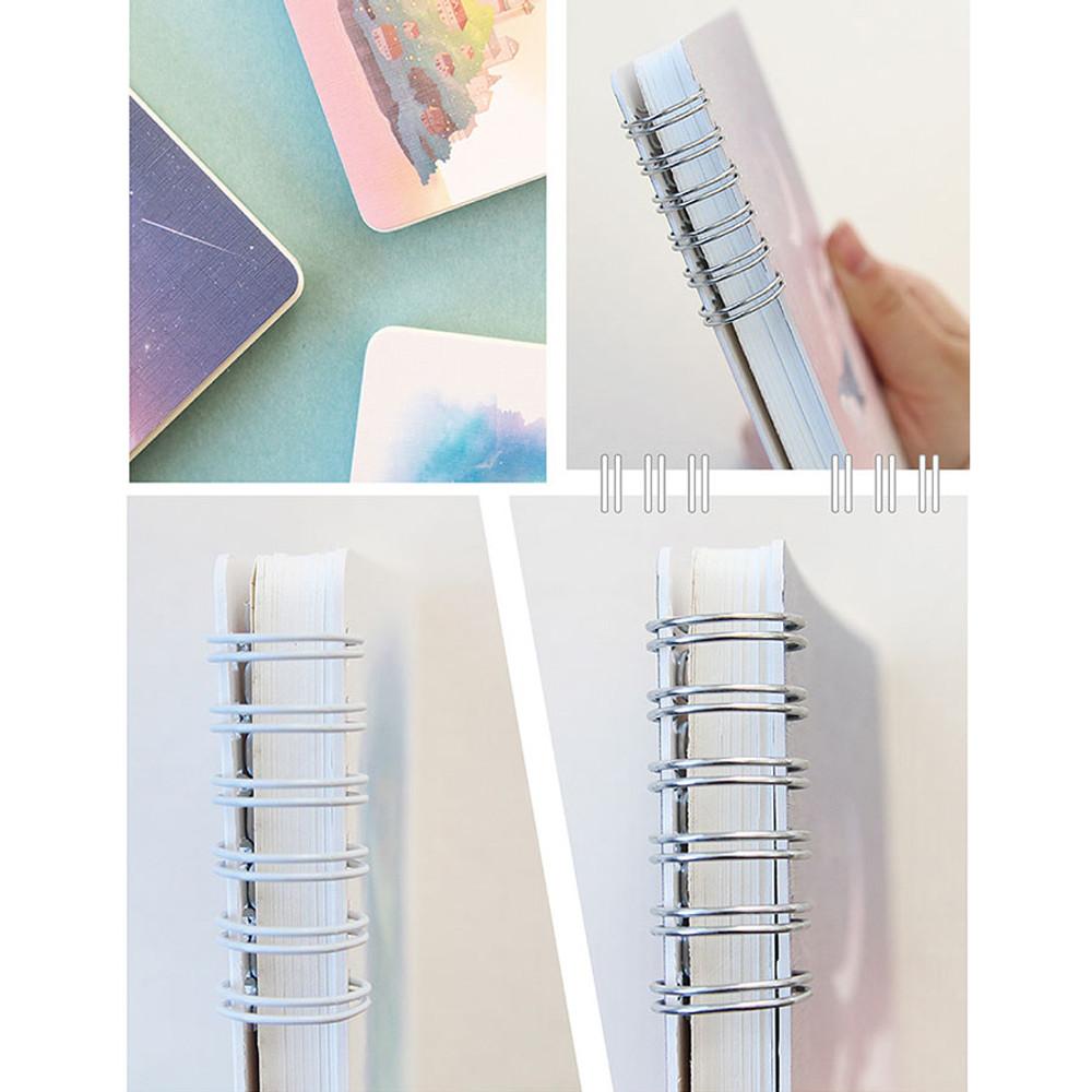 Wirebound - Pleple My story spiral bound undated daily diary planner